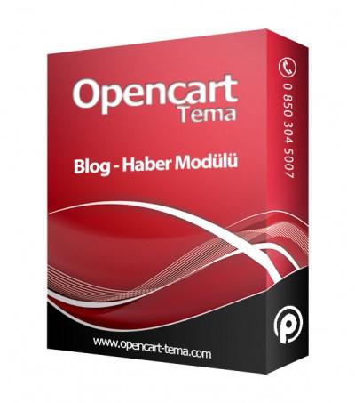 Opencart Blog Haber Modülü