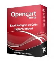 Opencart Excel Import Export Modülü - Excel Toplu Ürün Ekleme