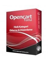 Opencart Hızlı Kategori Ekleme ve Düzenleme Modülü