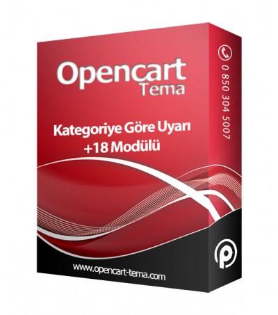 Opencart Kategoriye Göre +18 Yaş Uyarısı Popup Modülü