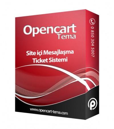 Opencart Site içi Mesajlaşma Müşteri Destek Modülü