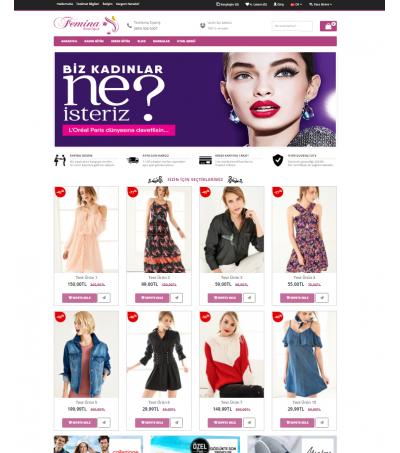Opencart Elbise Ayakkabı Satış Teması