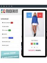 Opencart Modern Seçenekli Tekstil Teması